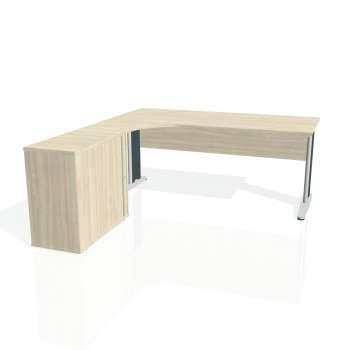 Psací stůl Hobis CROSS CE 1800 HR pravý, akát/kov