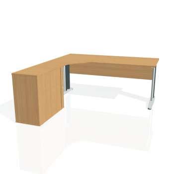 Psací stůl Hobis CROSS CE 1800 HR pravý, buk/kov