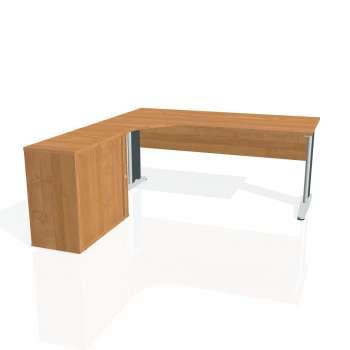 Psací stůl Hobis CROSS CE 1800 HR pravý, olše/kov