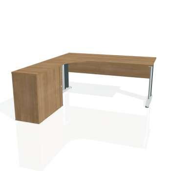Psací stůl Hobis CROSS CE 1800 HR pravý, višeň/kov