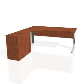 Psací stůl Hobis CROSS CE 1800 HR pravý, calvados/kov