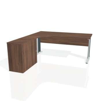 Psací stůl Hobis CROSS CE 1800 HR pravý, ořech/kov