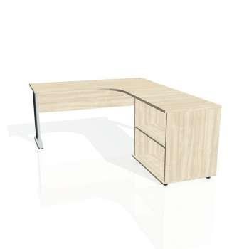 Psací stůl Hobis CROSS CE 60 H levý, akát/kov