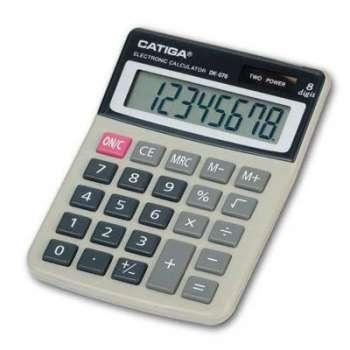 Stolní kalkulačka Catiga DK-076 - šedá