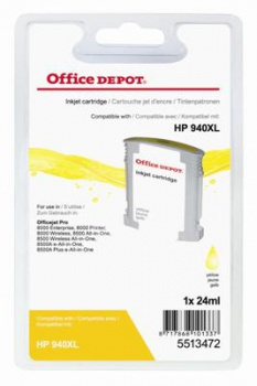 Cartridge Office Depot HP C4909AE/940XL - žlutá