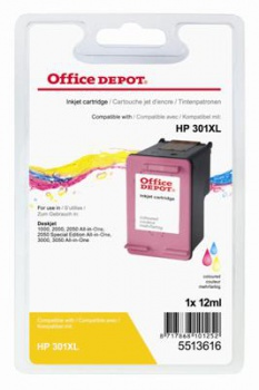 Cartridge Office Depot HP CH564EE/301XL - 3 barvy