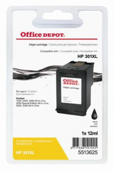 Cartridge Office Depot HP CH563EE/301XL - černá
