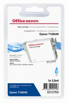 Cartridge Office Depot Epson T1282 - azurová