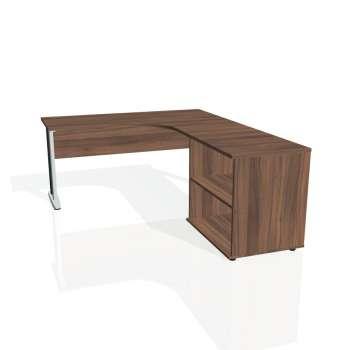 Psací stůl Hobis CROSS CE 60 H levý, ořech/kov
