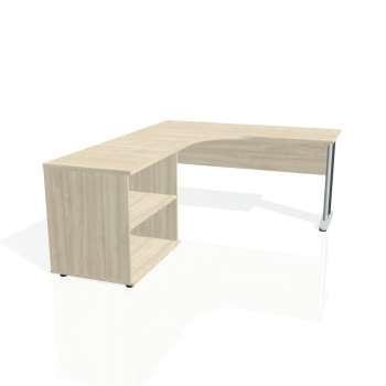 Psací stůl Hobis CROSS CE 60 H pravý, akát/kov