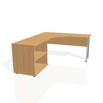 Psací stůl Hobis CROSS CE 60 H pravý, buk/kov