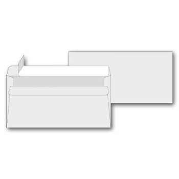 Obálky DL -  samolepicí, bílé, 50 ks