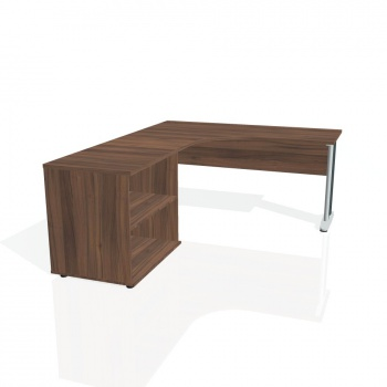 Psací stůl Hobis CROSS CE 60 H pravý, ořech/kov