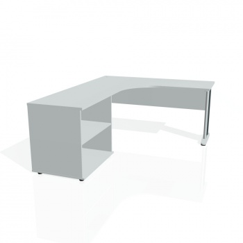 Psací stůl Hobis CROSS CE 60 H pravý, šedá/kov