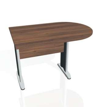 Přídavný stůl Hobis CROSS CP 1200 1, ořech/kov