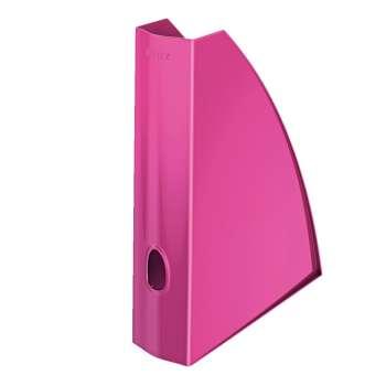 Stojan na časopisy LEITZ WOW - plastový, růžový