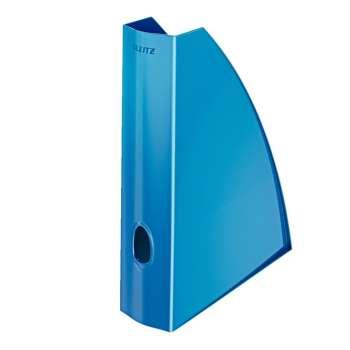 Stojan na časopisy LEITZ WOW - plastový, modrý