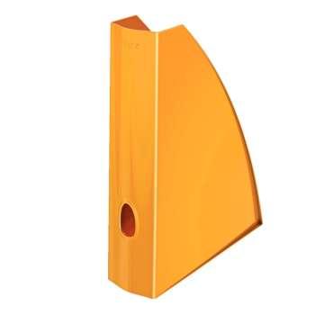 Stojan na časopisy LEITZ WOW - plastový, oranžový