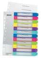 Plastový rozlišovač Leitz WOW - A4+, barevný, 1-12