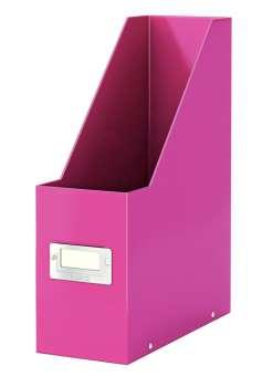 Stojan na časopisy LEITZ WOW Click-N-Store - růžová