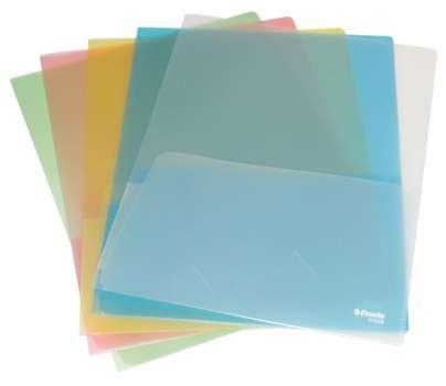 Desky s vnitřní chlopní Esselte - A4, dvojité, 180 mikronů, barevné, 5 ks