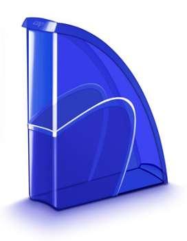 Stojan na časopisy CepPro Happy - plastový, transparentní, modrá