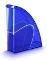 Stojan na časopisy CepPro Happy - plastový, transparentní, modrý