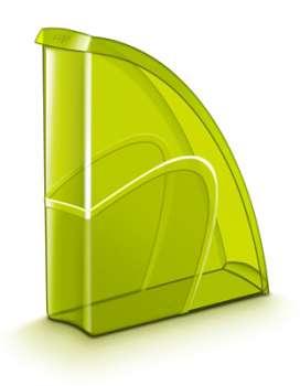 Stojan na časopisy CepPro Happy - plastový, transparentní, zelený