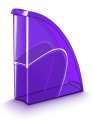 Stojan na časopisy CepPro Happy - plastový, transparentní, fialový