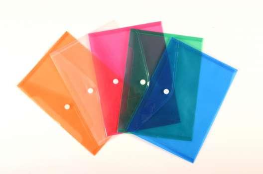 Spisové desky průhledné s drukem A5, mix barev, 25 ks