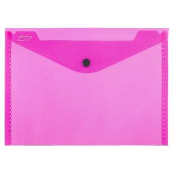 Spisové desky ELECTRA - A4, průhledné, tmavě růžové, 5 ks