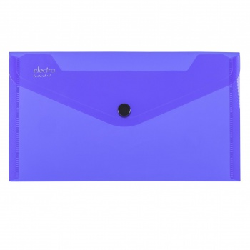 Spisové desky ELECTRA - DL, průhledné, tmavě modré, 5 ks