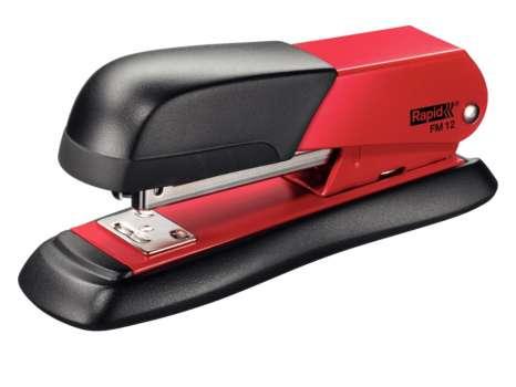 Sešívačka Rapid FM12 - celokovová, černá/červená