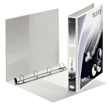 Prezentační pořadač LEITZ Softclick Maxi - A4, kroužkový, hřbet 3,8 cm, bílá