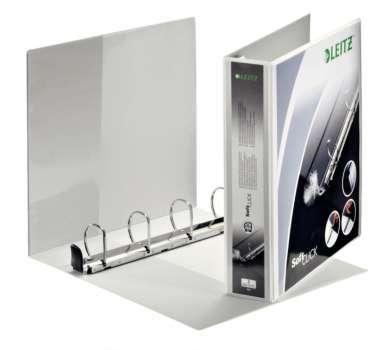 Prezentační pořadač LEITZ Softclick Maxi - A4, kroužkový, hřbet 6,3 cm, bílý