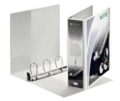 Prezentační pořadač LEITZ Softclick Maxi - A4, kroužkový, hřbet 8,6 cm, bílá