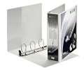 Prezentační pořadač LEITZ Softclick Maxi - A4, kroužkový, hřbet 8,6 cm, bílý