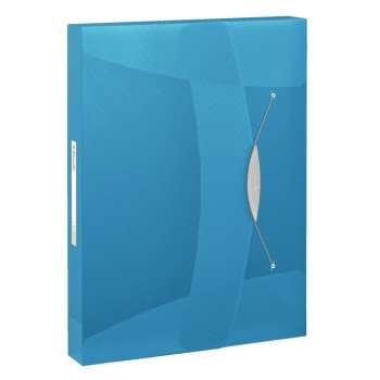 Box na spisy s gumičkou Esselte VIVIDA - A4, modrý