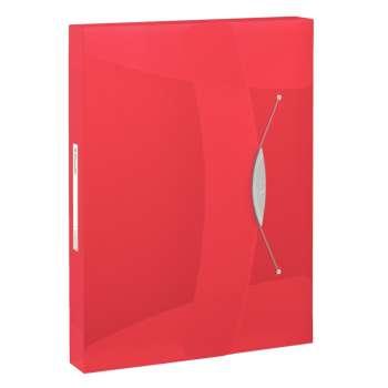 Box na spisy s gumičkou Esselte VIVIDA - A4, červený