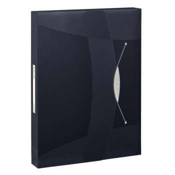 Box na spisy s gumičkou Esselte VIVIDA - A4, černý
