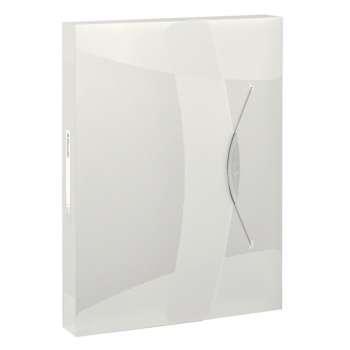 Box na spisy s gumičkou Esselte VIVIDA - A4, bílý