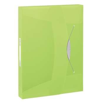 Box na spisy s gumičkou Esselte VIVIDA - A4, zelená