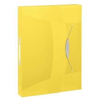 Box na spisy s gumičkou Esselte VIVIDA - A4, žlutý