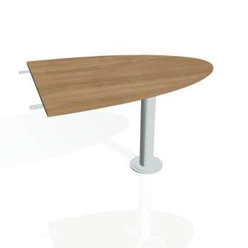 Přídavný stůl Hobis CROSS CP 1200 2, višeň/kov