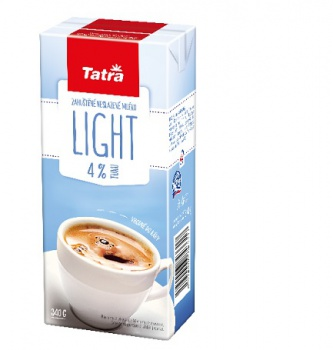 Mléko do kávy Tatra - light 4 % tuku, 340 g