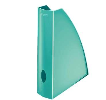 Stojan na časopisy LEITZ WOW - plastový, ledově modrý
