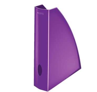 Stojan na časopisy LEITZ WOW - plastový, purpurový