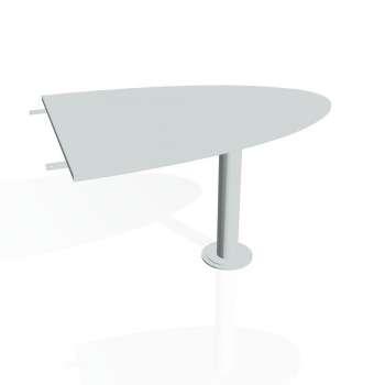Přídavný stůl Hobis CROSS CP 1200 2, šedá/kov