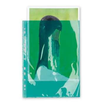 """Obaly barevné """"U"""" závěsné A4 hladké zelené, 100 ks"""