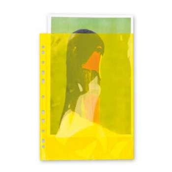 """Obaly barevné """"U"""" závěsné A4 hladké žluté, 100 ks"""